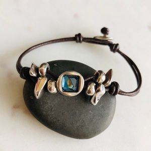 Uno de 50 Corded Topaz Bracelet